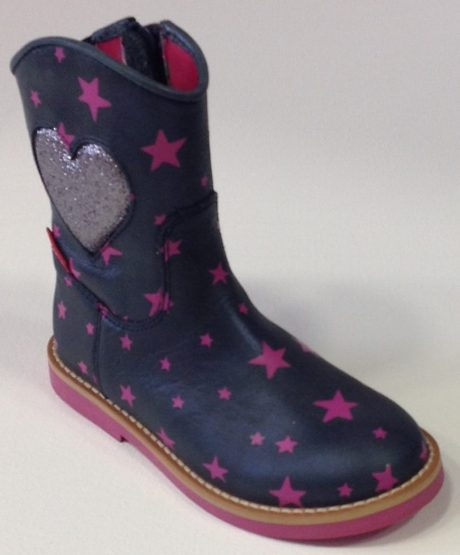 Shoesme navy pink star
