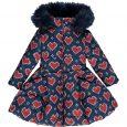 A*Dee Girls Knitted Heart Coat W212204